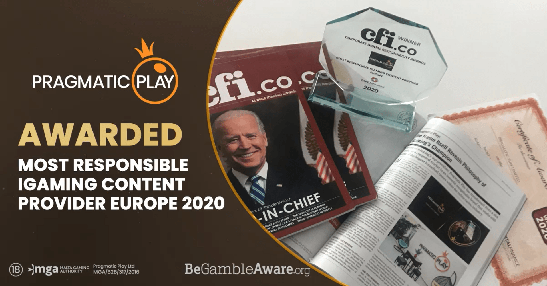 CFI Magazine Awards 2021 - Pragmatic Play