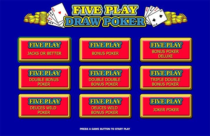 5 Play Video Poker